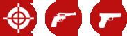 Hand gun shootig range